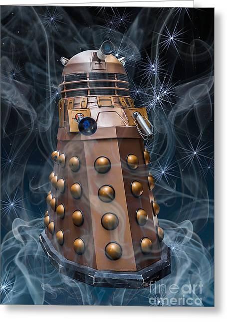 Dalek Greeting Card by Steve Purnell