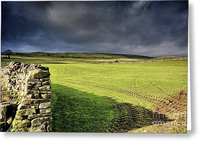 Dales Storm Clouds Greeting Card by Nichola Denny
