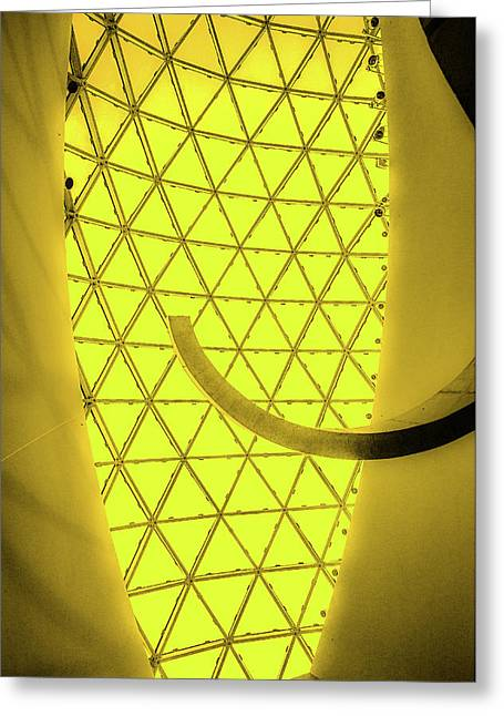 Dali Museum Glass Roof In Yellow Greeting Card by Judith Barath