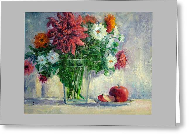 Dalias Greeting Card by Jill Musser