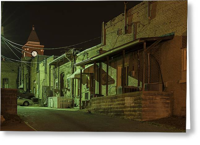 Dallas Alley Greeting Card by Robert Myers