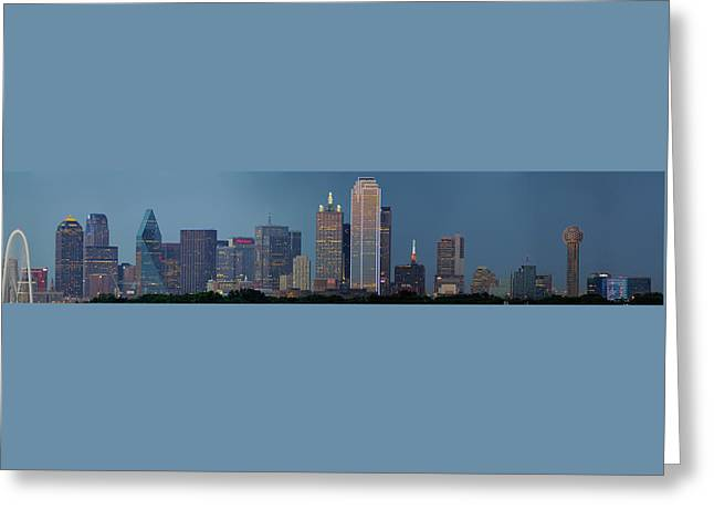 Greeting Card featuring the photograph Dallas At Night by Jonathan Davison