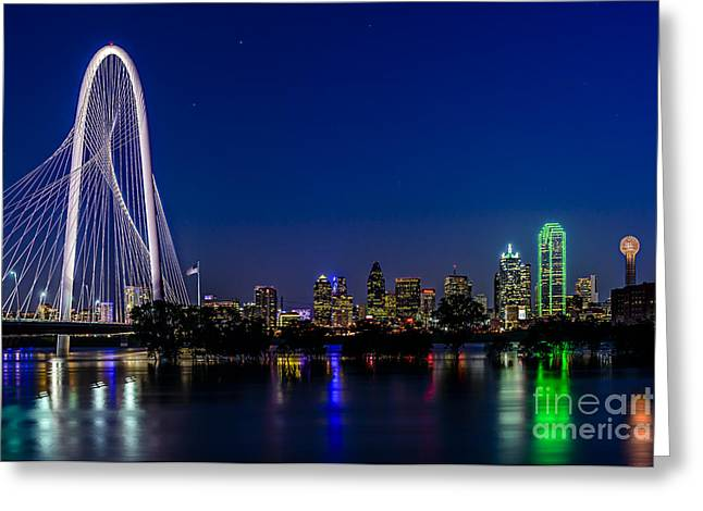 Dallas At Night Greeting Card
