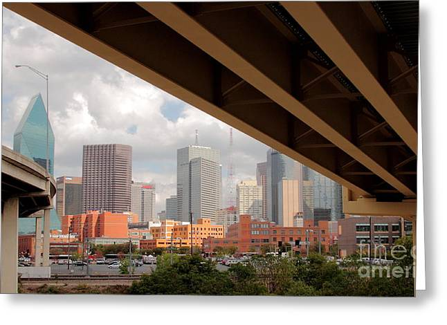 Dallas Backside Greeting Card by Robert Frederick