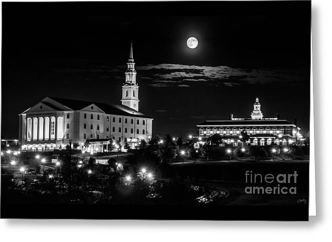 Dallas Baptist University In Bw Greeting Card by Imagery by Charly