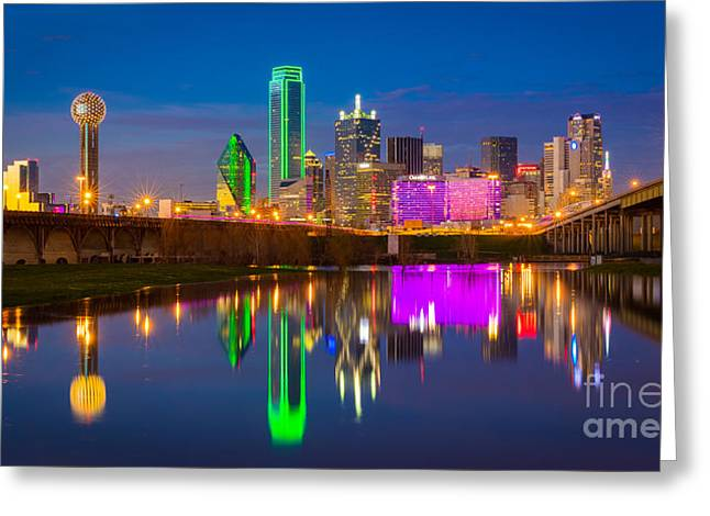 Dallas Between The Bridges Greeting Card by Inge Johnsson