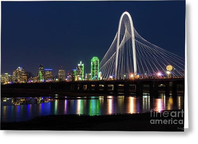 Dallas Bridge View Greeting Card
