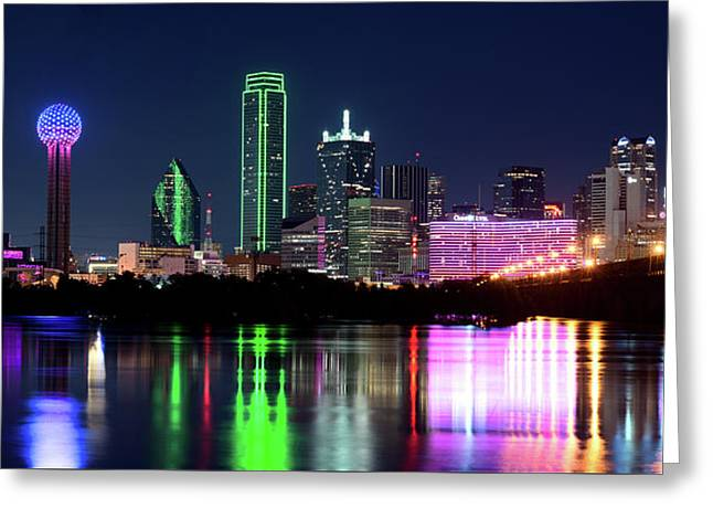 Dallas Colorful Night 52716 Greeting Card