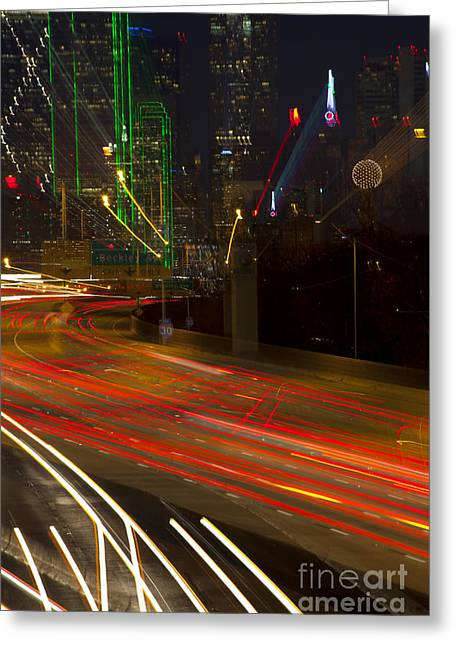Dallas Commute - Abstract Greeting Card by Anthony Totah