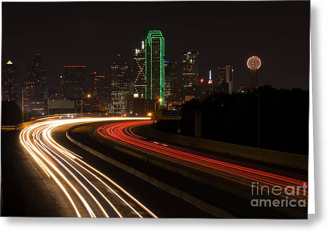 Dallas Commute Greeting Card by Anthony Totah