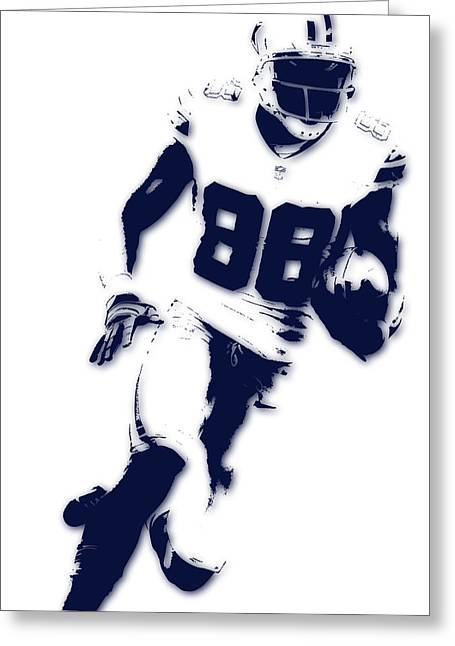 Dallas Cowboys Dez Bryant Greeting Card by Joe Hamilton