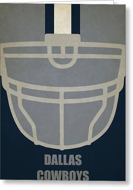 Dallas Cowboys Helmet Art Greeting Card