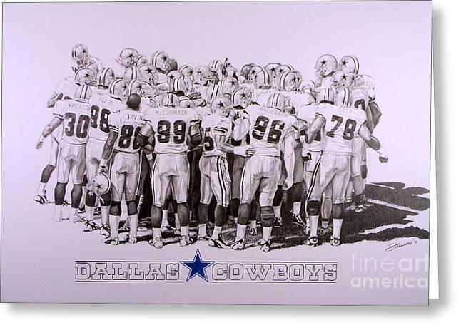 Dallas Cowboys Greeting Card by Shawn Stallings