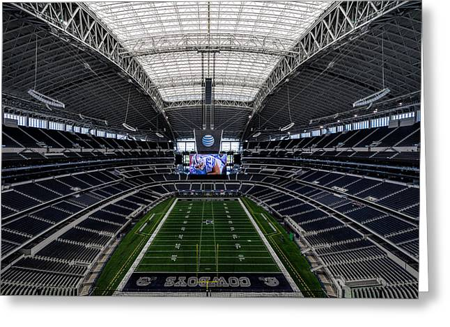 Dallas Cowboys Stadium End Zone Greeting Card