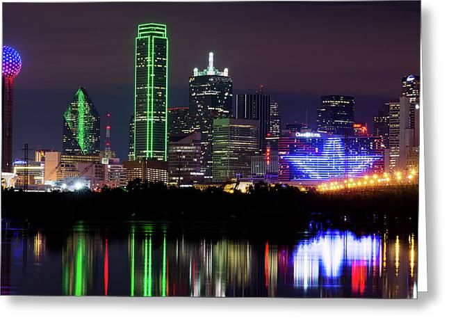 Dallas Cowboys Star Night Greeting Card