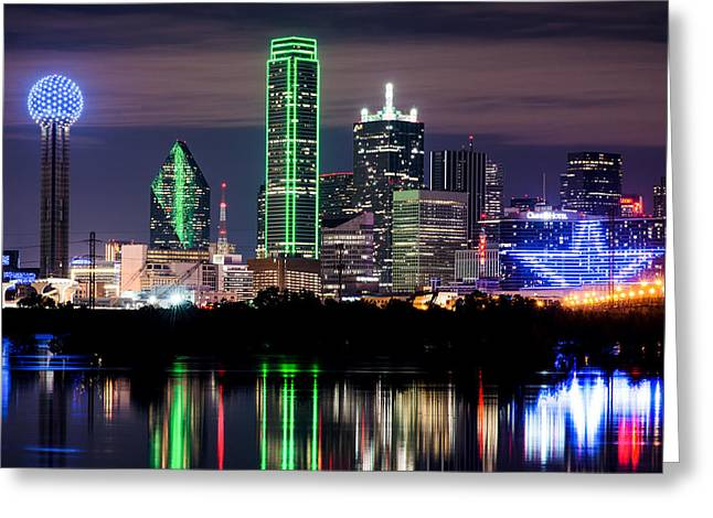 Dallas Cowboys Star Skyline Greeting Card