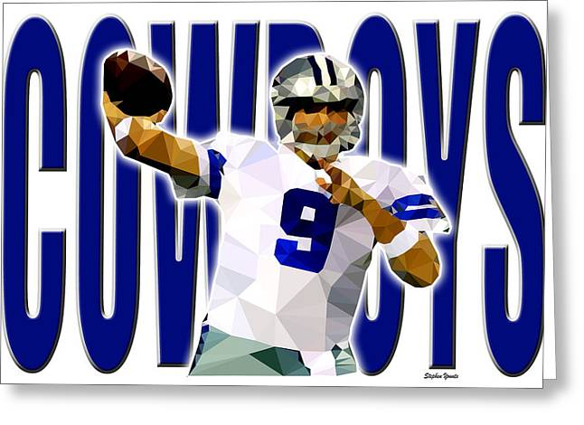 Greeting Card featuring the digital art Dallas Cowboys by Stephen Younts