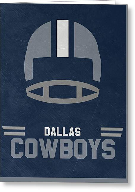 Dallas Cowboys Vintage Art Greeting Card by Joe Hamilton