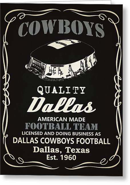 Dallas Cowboys Whiskey Greeting Card