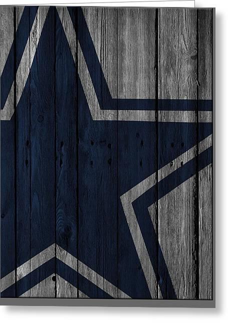 Dallas Cowboys Wood Fence Greeting Card