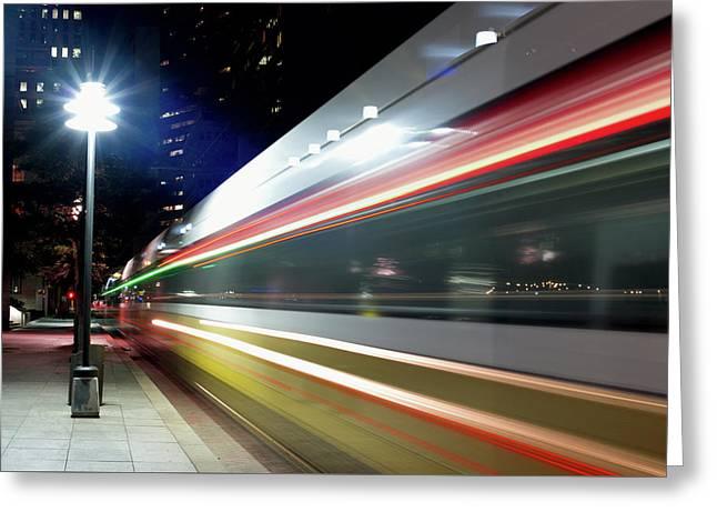 Dallas Dart Train 012518 Greeting Card