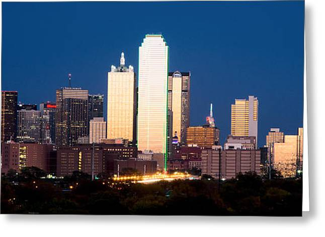 Dallas Golden Pano Greeting Card