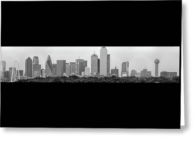 Dallas In Black And White Greeting Card by Jonathan Davison