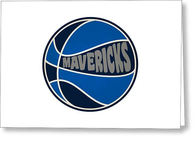 Dallas Mavericks Retro Shirt Greeting Card by Joe Hamilton