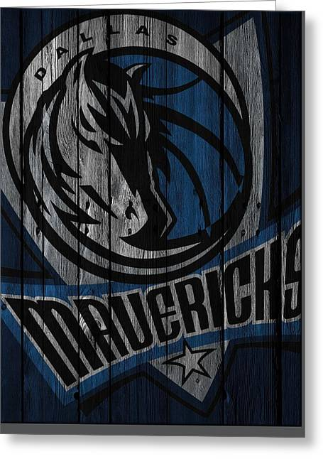 Dallas Mavericks Wood Fence Greeting Card