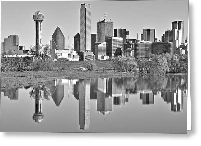 Dallas Monochrome Greeting Card by Frozen in Time Fine Art Photography