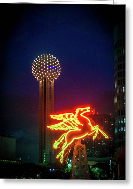 Dallas Pegasus Greeting Card by Art Spectrum