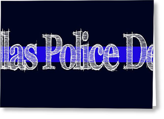 Dallas Police Dept. Blue Line Mug Greeting Card
