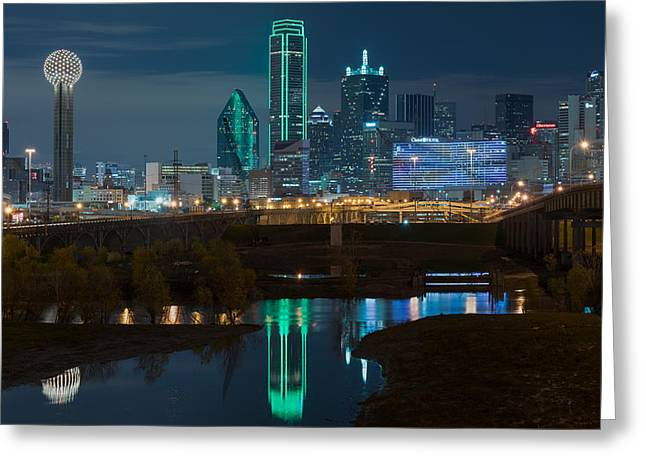 Dallas Reflection  Greeting Card by Jonathan Davison