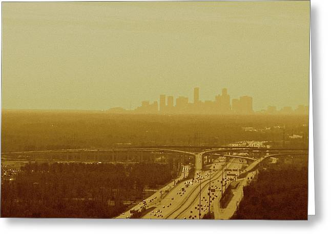 Dallas Sky Greeting Card by Katie Ransbottom