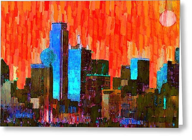 Dallas Skyline 61 - Da Greeting Card