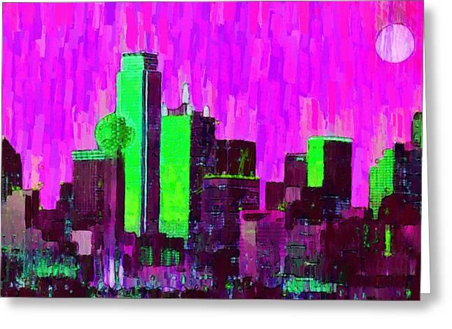Dallas Skyline 64 - Pa Greeting Card