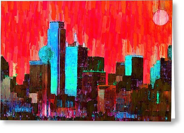 Dallas Skyline 65 - Da Greeting Card