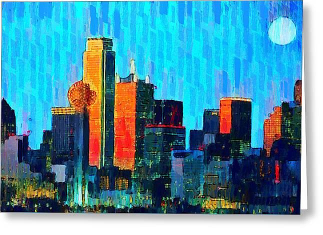 Dallas Skyline 69 - Pa Greeting Card