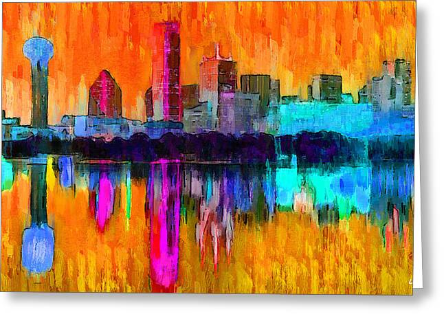 Dallas Skyline 7 - Pa Greeting Card