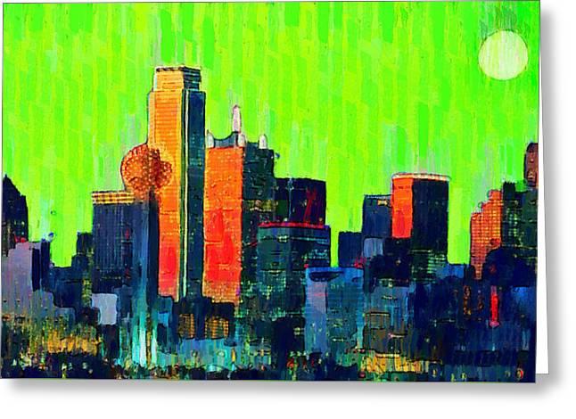 Dallas Skyline 73 - Da Greeting Card