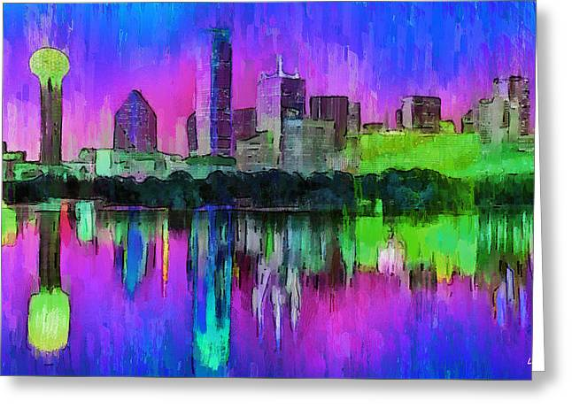 Dallas Skyline 8 - Da Greeting Card