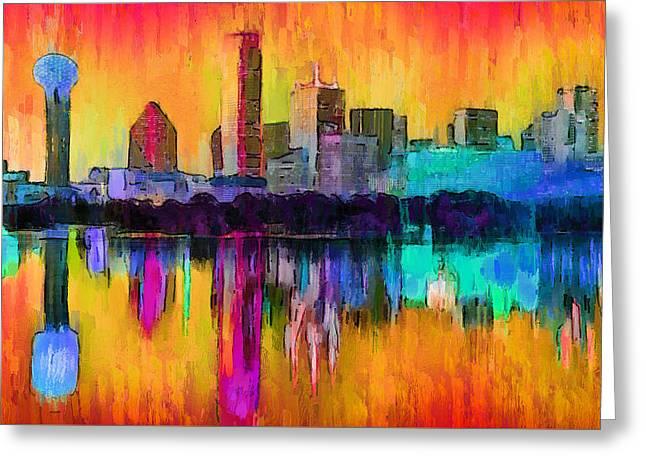 Dallas Skyline 9 - Da Greeting Card