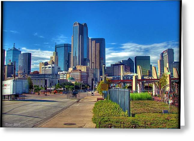 Greeting Card featuring the photograph Dallas Skyline by Farol Tomson