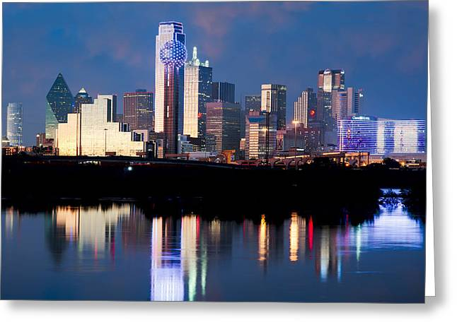 Dallas Skyline May 2015 Greeting Card