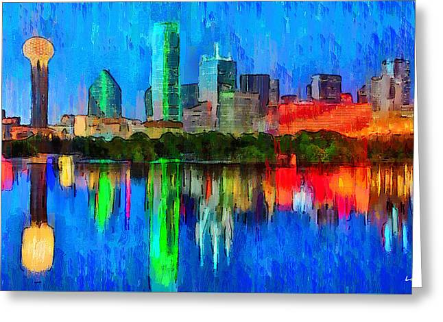 Dallas Skyline - Pa Greeting Card