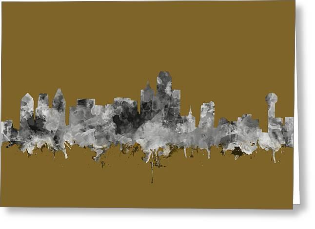 Dallas Skyline Watercolor 2 Greeting Card