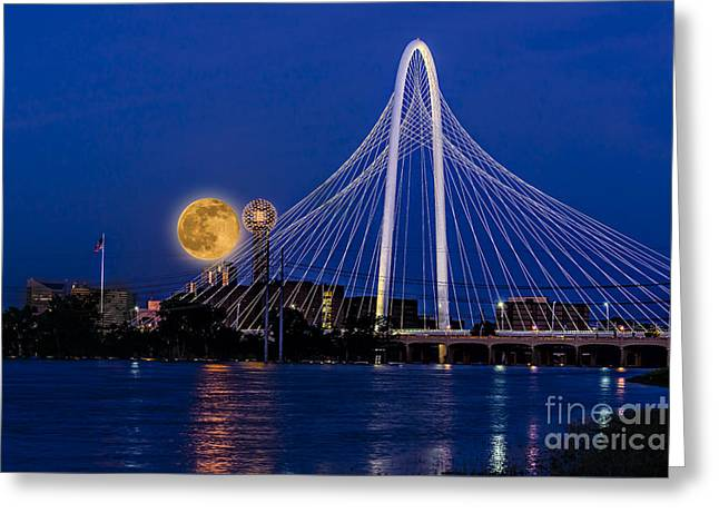 Dallas Strawberry Moon At Twilght Greeting Card
