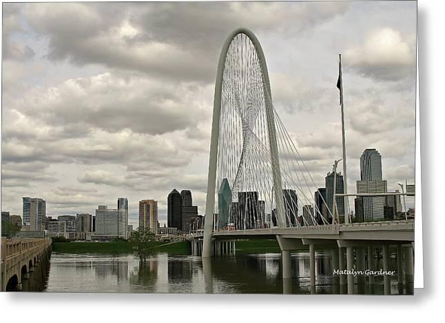 Dallas Suspension Bridge Greeting Card
