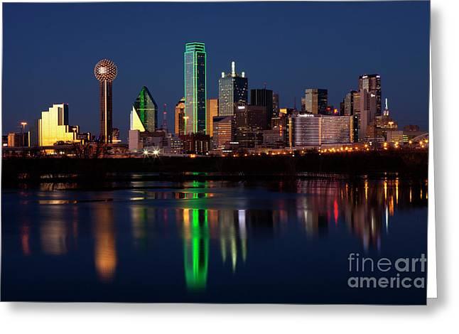 Dallas, Texas And Reflections Greeting Card