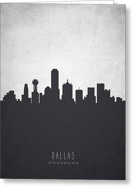 Dallas Texas Cityscape 19 Greeting Card by Aged Pixel
